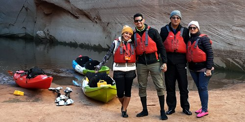 Winter Kayak Tour in Lake Powell